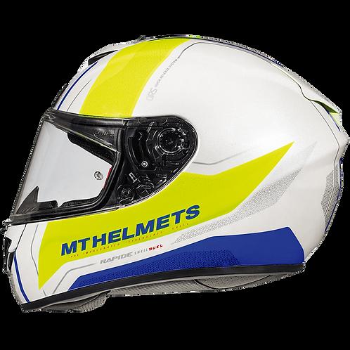 Мотошлем MT Helmets Rapide Duel white yellow blue