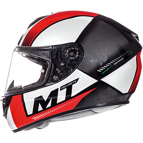 Мотошлем MT Helmets Rapide Overtake white red green