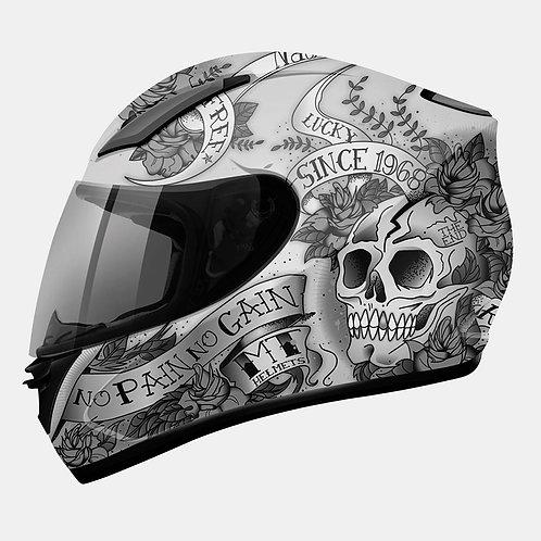 Мотошлем MT Helmets Revenge Scull&Rose Matt