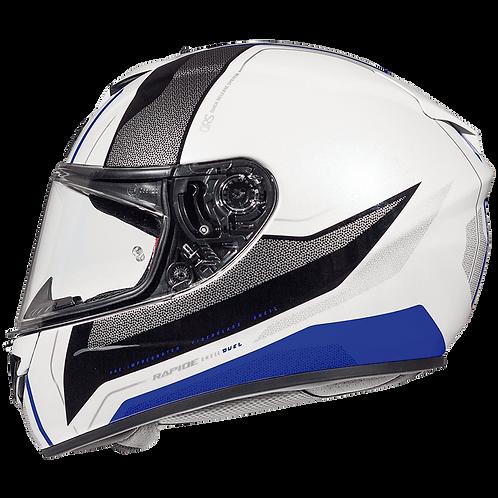Мотошлем MT Helmets Rapide Duel white gray blue