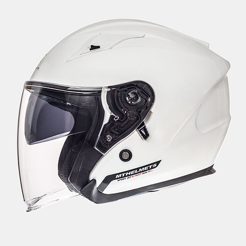 MT Helmets Avenue Solid Gloss White