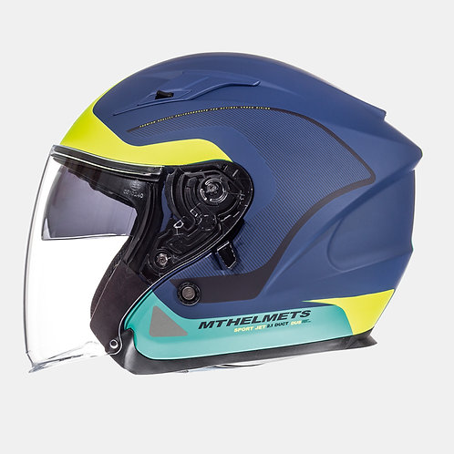Мотошлем MT Helmets Avenue SV Crossroad Matt Blue Yellow