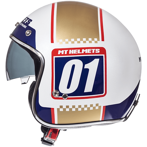 Мотошлем MT Helmets Le Mans Numberplate