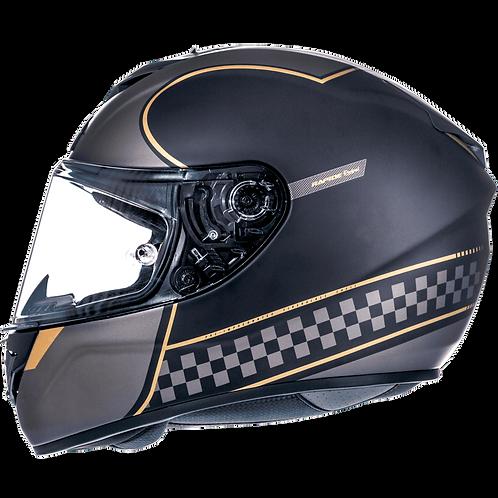 Мотошлем MT Helmets Rapide Revival Matt black grey gold