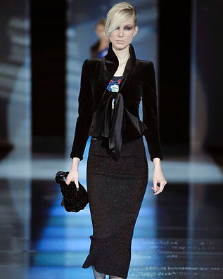 Ieva for Armani Prive couture collection.