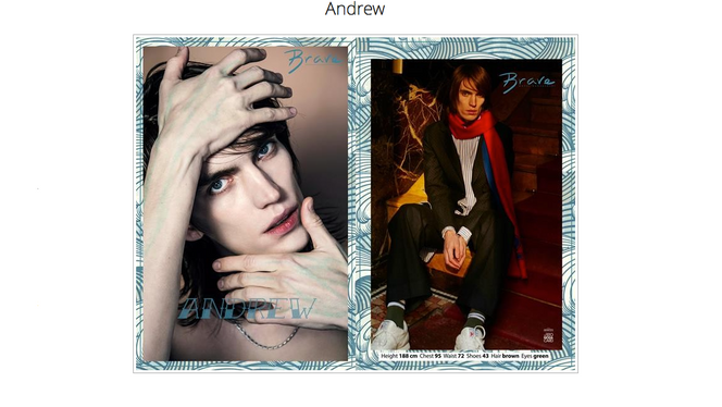 Andrew confirmed for Milan and Paris FW!