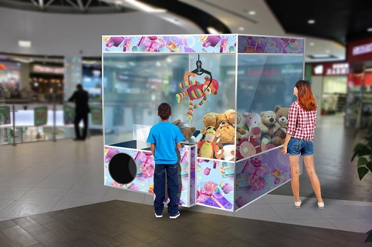 Автомат Хватайка Гигант позволяет использовать призы до 1 метра