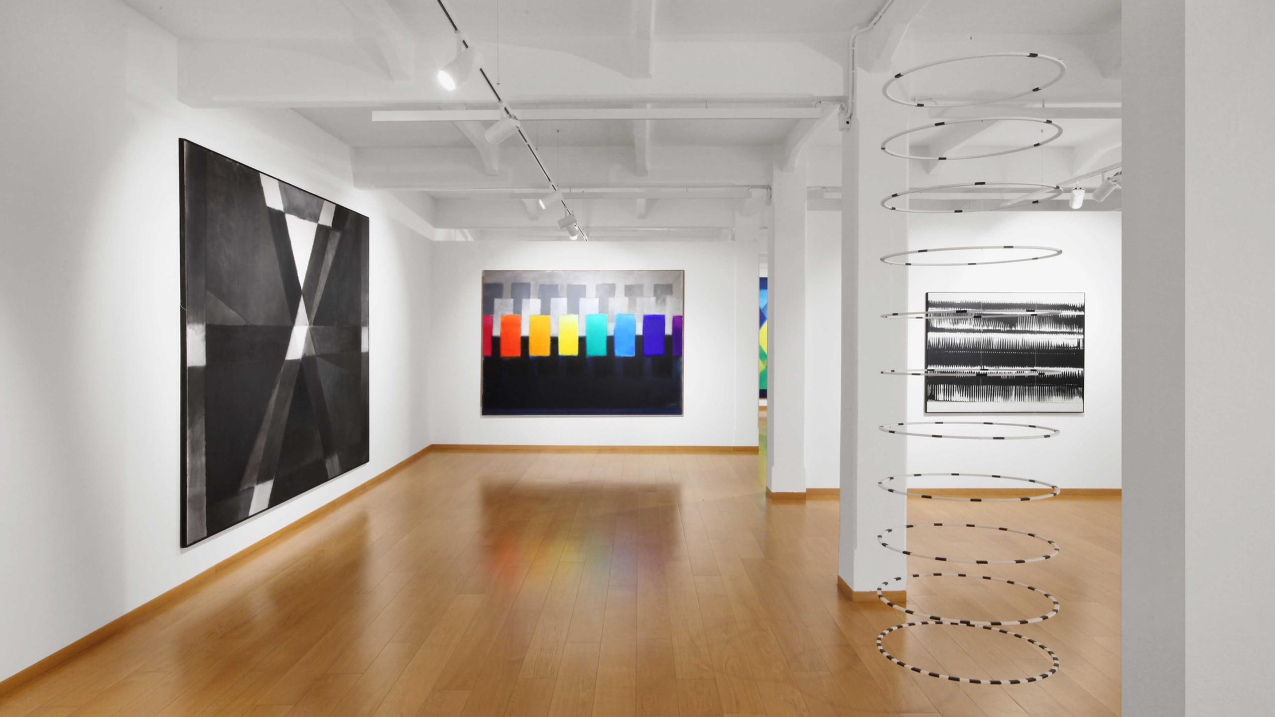 "Installation View ""Heinz Mack: The Breath of Light"", 2019, Cortesi Gallery Milan, Italy - Photo by Bruno Bani © Cortesi Gallery"