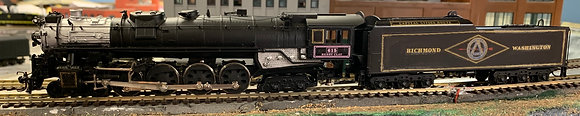 "RF&P - 4-8-4 (613-622) #615 ""Henry Clay"" -  Brass OMI HO"