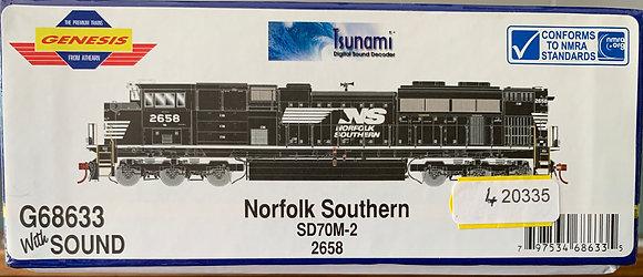 Norfolk & Southern SD70M-2  HO scale - DCC & Sound