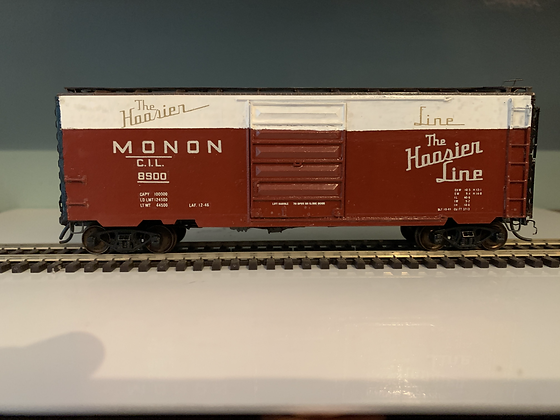 MONON - 40ft PS-1 Plug Door Box  Car - Custom Painted - HO