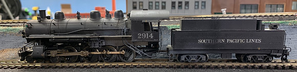 Southern Pacific - TW-8  4-8-0  Twelve Wheeler Brass  HO