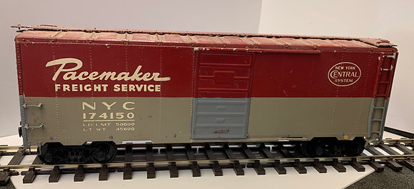 NEW YORK CENTRAL 40ft Single Door Car - O Scale - Metal