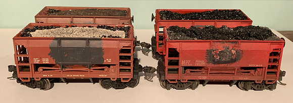 4 x 26ft Oxide Red -  Ore Cars   - HO