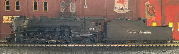 D&RGW Class M78   4-8-2  #1519 -  Brass    HO