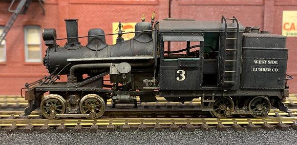 Westside Lumber Co.  37ton Heisler No.3 - 2 Trucks - Brass HO.