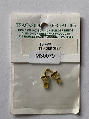 Tender Steps L&R - Brass -   Trackside Specialists #499 - HO Parts