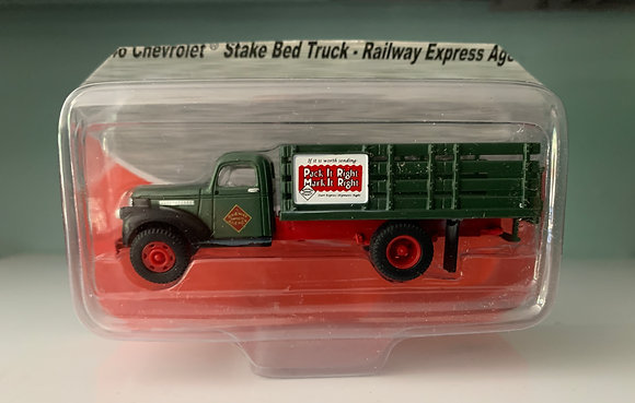 """Rail Express Agency - Chevrolet Stake bed Truck """"pack it right""""- Mini Metals"""