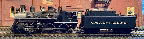 Craig Valle VALLEY & HAWK CREEK   4-6-0 Baldwin D22 Ten Wheeler   Brass - PFM HO