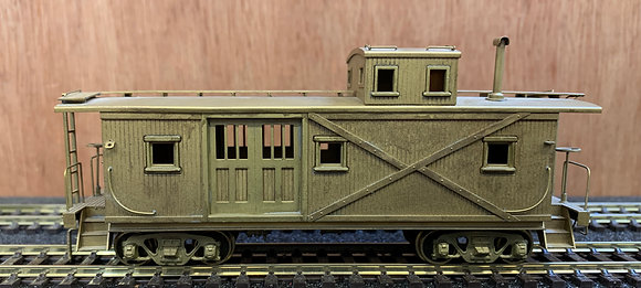 VIRGINIA & TRUCKEE Wood Caboose  - Brass - HO