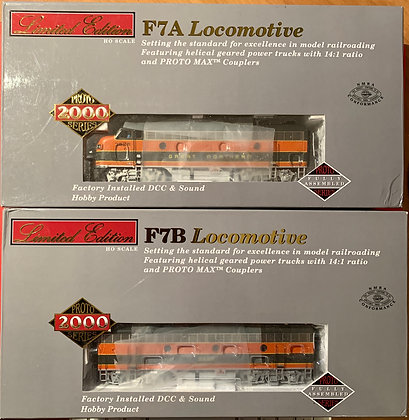 """Great Northern - """"Empire Builder"""" EMD F7A & B - HO - Proto 2000  DCC & Sound"""