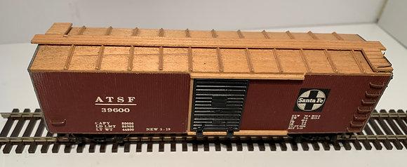 AT&SF Santa Fe -  40ft Wooden  Box Car - Unfinished - HO