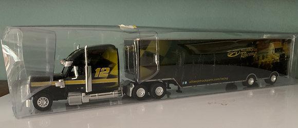 "Alliance Trucking - Freightliner ""Coronado High Roof"" + Racing Trailer HO"