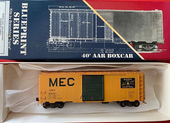 Maine Central 40' AAR 8' Single Door  Box Car - HO