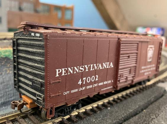 Pennsylvania RR - 40ft Steel Box Car Dreadnaught Ends - HO