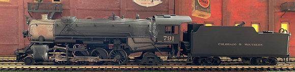COLORADO & SOUTHERN 2-8-2  USRA Heavy Mikado #791  Brass - HO