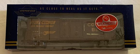 Cotton Belt 50ft PC&F Welded Double Plug Door Box Car - Weathered  HO NISB