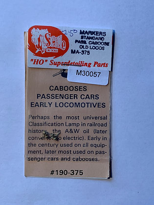 Marker Lamps Standard - pair - Cal Scale - HO Parts