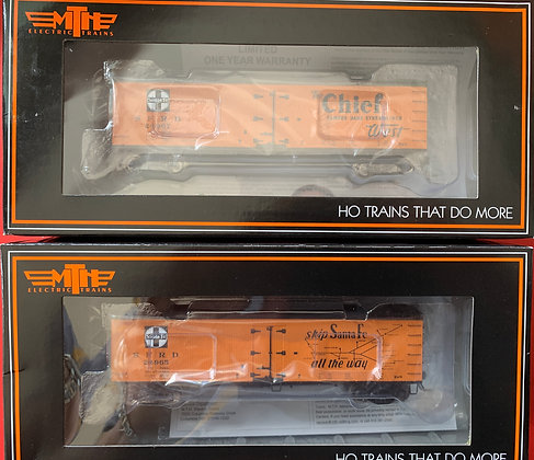 5 x Pacific Fruit Express 40ft Wooden R40-2 Refer Cars MTH 80-90021A-E  NIB - HO