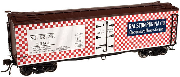 Raiston Purina  40ft Wooden Reefer Box Car - Atlas  20 002 013 HO NIS
