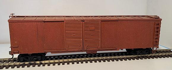 PLAIN - NO ROAD MARKINGS - 50ft Double Door Wooden Box Car - HO