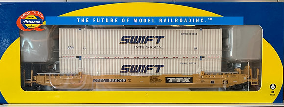 TTX 56' Well Car c/w 2 x 53' Swift Containers - Athearn  92876  HO NIB