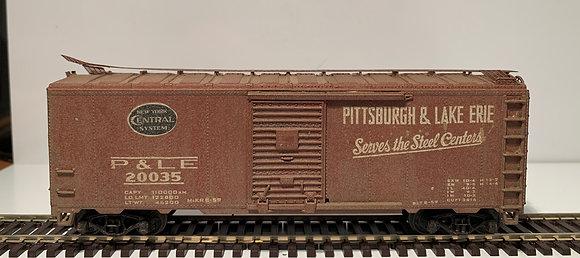 PITTSBURGH & LAKE ERIE - 40ft Metal Single Door Box Car - Weathered - HO