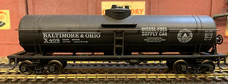 BALTIMORE & OHIO  - 40ft Diesel Fuel Supply Tank Car - HO