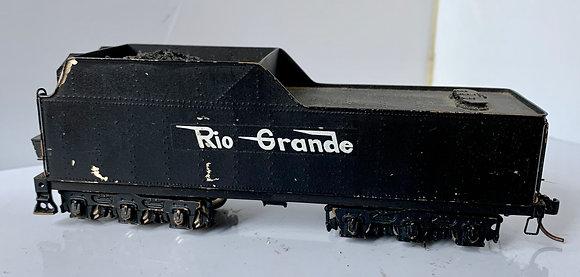 Rio Grande - 6 wheel - TENDER ONLY  - Brass - HO
