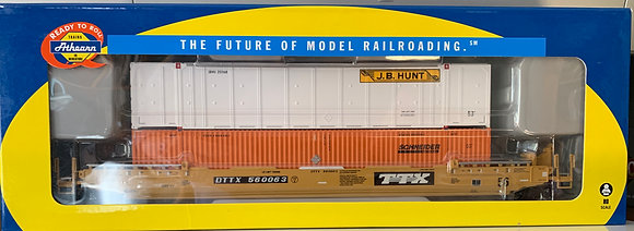 TTX 56' Well Car c/w 2 x 53' Containers JB Hunt + Schneider - Athearn  92879
