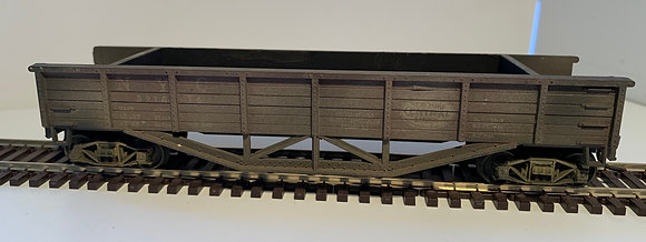 NEW YORK CENTRAL - 40ft Wooden Ballast Car - Weathered - HO