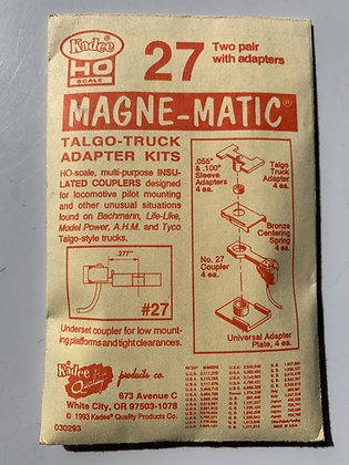 Kadee - Magne-Matic Couplers #27 - Talgo-Truck adaptor kit