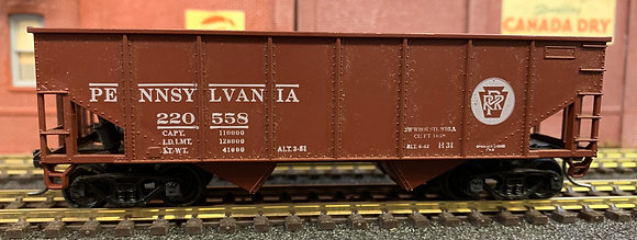 PENNSYLVANIA - 34ft 2 Bay Ribbed Side Metal Hopper Car