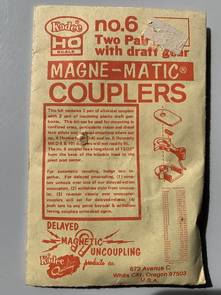 Kadee - Magne-Matic Coupler  #6 (formerly MKD-6)