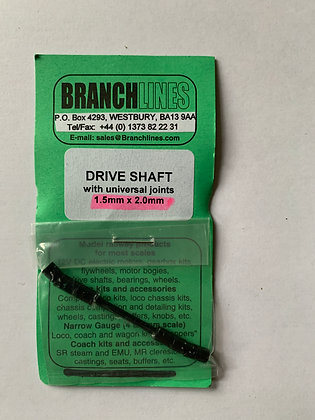 Branchlines : Drive Shaft with Universal Joint 1.5mm x 2.0mm