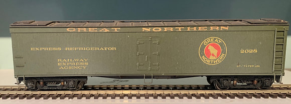 GREAT NORTHERN - REA - 50ft Wooden Refer Box  Car  - HO