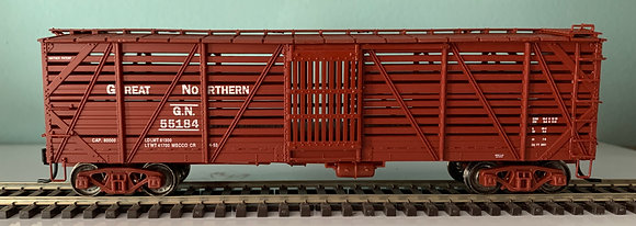 GREAT NORTHERN - 40ft Mather - Single Deck  Wooden Stock Car - HO