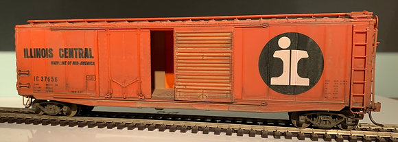 ILLINOIS CENTRAL  - 50ft PS-1 Double Door Box  Car - lightly weathered - HO