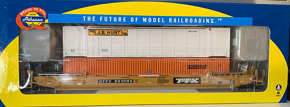 TTX 56' Well Car c/w 2 x 53' Containers JB Hunt + Schneider - Athearn  92880