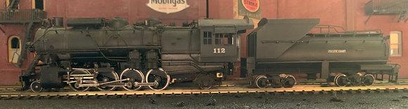 DM&IR / Pacific Coast 2-8-2  N3 (1309-1311) Mikado #112     Brass HO
